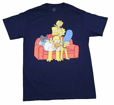 The Simpsons Family Couch Bart Simpson Homer Marge Maggie Lisa 90s T-Shirt Tee