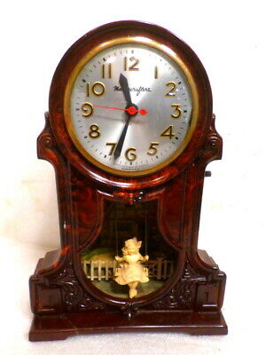 Nice Collectable Swinging Girl Clock By Mastercrafters