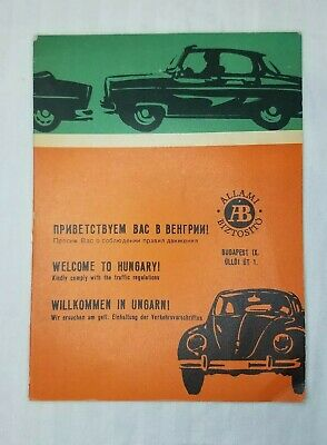 Vintage 1960's Visitor's Guide Budapest Hungary Tourist Foldout Map