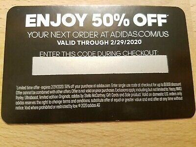 Adidas Store 50% Off Code ADIDAS DISCOUNT PASS Good until FEBRUARY 29 2020