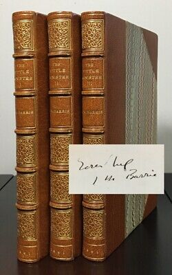 THE LITTLE MINISTER by J. M. Barrie | 1st ed 1891 | Half Calf | Signed