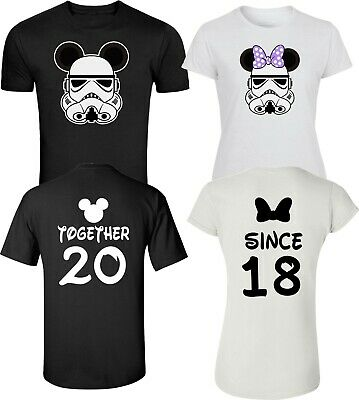 Star war storm trooper at Disney Custom Back Together since Couples T-Shirts