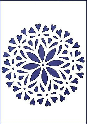 Flexible Stencil *DECORATIVE HEART* Embossing Pricking Card Making 14.5 x 13.5cm