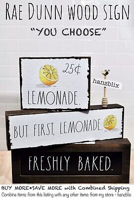 """Rae Dunn Wood Sign COFFEE BAR BUT FIRST, COFFEE """"YOU CHOOSE"""" NEW '20"""