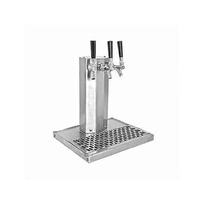 Glastender - CT-2-SSR - 2-Faucet Stainless Glycol Column Tower w/Drain Pan