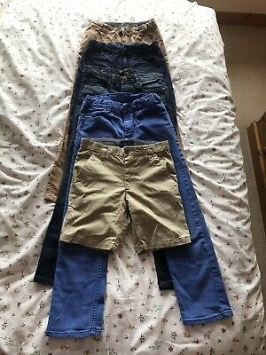 Boy's Jeans Trousers Chinos Shorts Bundle age 9/10 years Inc Next H&M + Slim Fit