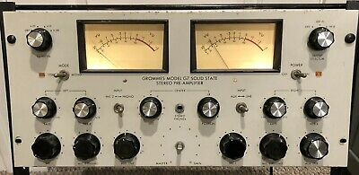 GROMMES G7 PREAMPlifier high-end G-7 SOLID STATE mic signal preamp RADIO STATION