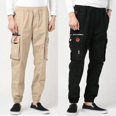 AAPE CARGO PANTS Black Khak  From Japan New 2019 A//W A BATHING APE Men/'s