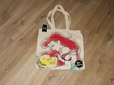 New Disney Little Mermaid Tote Bag Ariel & Flounder