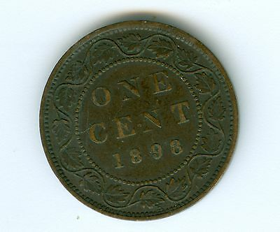 Canada 1898-H Large Cent--Extra Fine