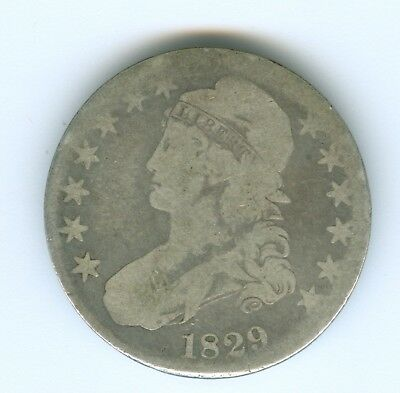 1829 Bust Half Dollar-Circulated