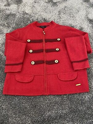 Marks & Spencer Autograph Girls Red Cardigan Military Styling age 11-12 Years