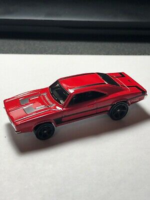 2014 Hot Wheels 1969 Dodge Charger 500 Red Street Rod  —1/64–loose—Super Nice