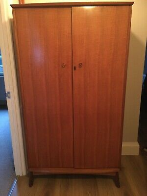 Retro Alfred Cox Mid-Century modern walnut wardrobe for Heals