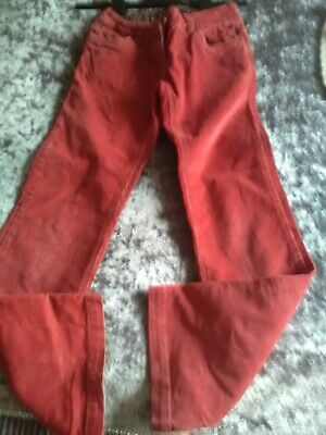 Mini Boden Girls corded jeans Age 11 years Dark Red