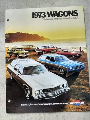 1973 Chevrolet  Car Dealer Sales Brochure Wagons Chevelle Vega Suburban Blazer