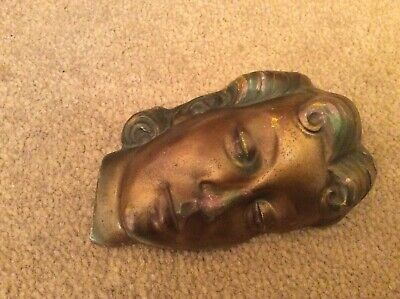 Lovely Art Deco Face Wall Plaque