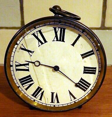 Victorian Antique French Brass Striking Round Carriage Clock Nr
