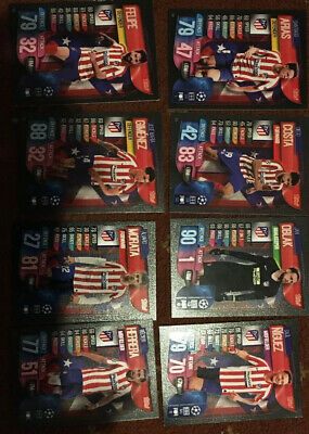 MATCH ATTAX 2019/20 8x Athletico Madrid Players