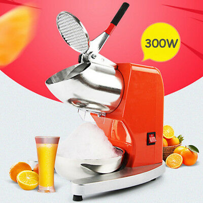300W Electric Ice Crusher Shaver Commercial Machine Snow Cone Maker Bowl