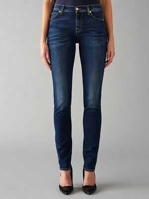 Seven for all mankind Dark Blue Roxanne Jeans Size 29, Uk 10.new