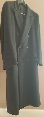 Canali charcoal grey wool/cashmere double breasted overcoat 50R Eu (40R US)