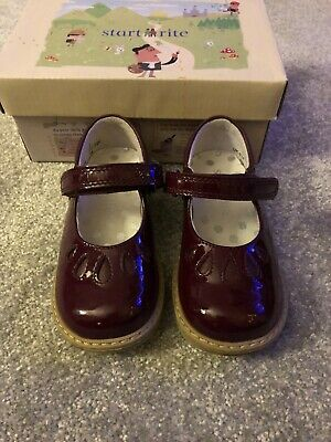 Startrite Burgandy Patent Leather Girls Shoes