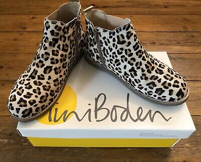 Gorgeous Mini Boden Girls New Boxed Chelsea Boots Tan Leopard Size 37 (4UK)
