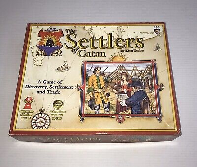 The Settlers of Catan 483 Original Pieces Complete Set Board Game Playing Cards