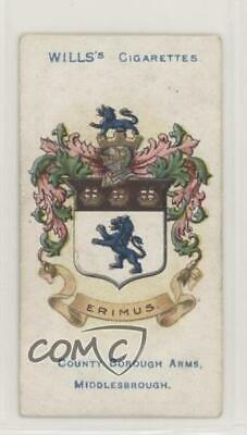 1905 Wills Borough Arms 3rd Series Tobacco Red Album Clause Middlesbrough 2h8