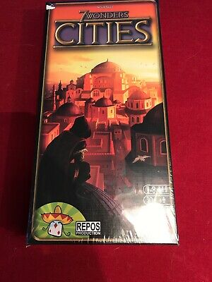 7 wonders cities board game brand NEW Sealed Antoine Bauza Expansion set