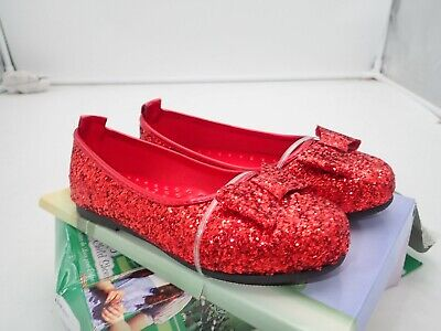 Little girls Wizard of Dorothy Deluxe Ruby Red Costume Shoes size medium