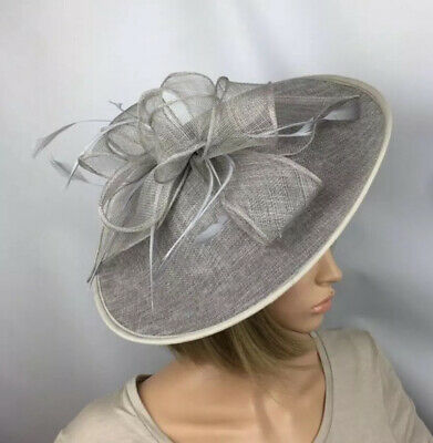 Silver Grey fascinator Wedding Occasion Mother Of The Bride Races Ladies Day
