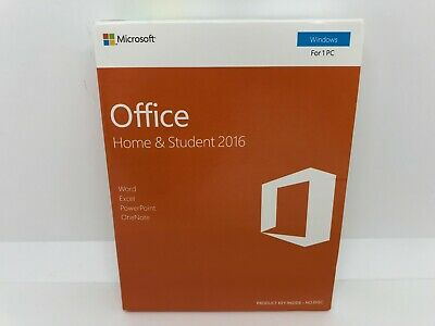 Genuine Microsoft Office Home and Student 2016 Medialess Key for Windows New