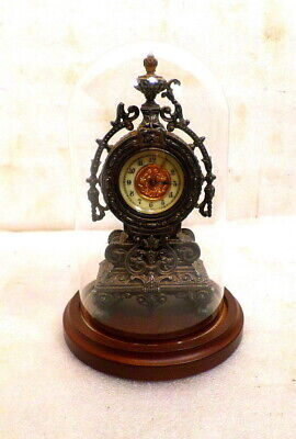 Attractive Ansonia Mini Statue Clock Under Dome--Circa 1885