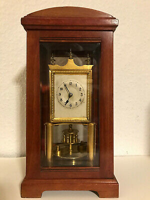 RARE BHA (Gustav Becker) Glass 400 Day Torsion Anniversary Clock Jahresuhr