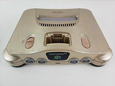 Gold Nintendo N64 Console Only NUS-001 USA US Version - Toys R Us - RARE Tested