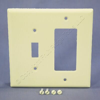 Eagle Almond Mid-Size 2G Combination Decorator Switch Cover GFI Wallplate 2053A