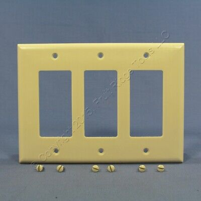 Eagle Ivory Decorator Mid-Size 3G GFI GFCI Cover Rocker Switch Wallplate 2063V