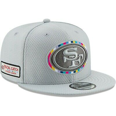 San Francisco 49ers 2018 Crucial Catch 9FIFTY Snapback Adjustable Hat - Gray