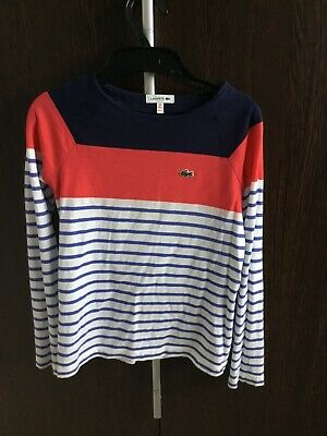 Girls Lacoste Long Sleeve Top Age 10 years (fit 8-10yrs)
