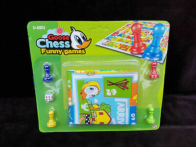 family games travel Goose Chess Play Mat Traditional Childrens Game Play time