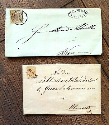 Antique Letter Post Stamp 19th century Letter to Vienna and Germany