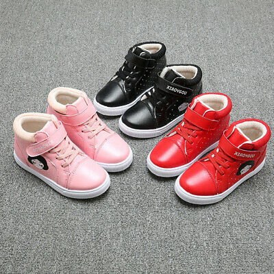 Toddler Kids Baby Girls Shoes Winter Cartoon Princess Shoes Solid Casual Shoes