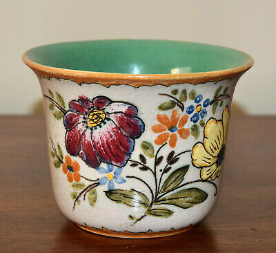 Vintage Gouda Holland Art Pottery Bowl Flower Pot