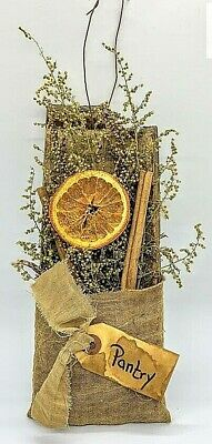 Primitive Colonial Pantry Stave Hanger w/ Dried Orange and Sweet Annie Homestead