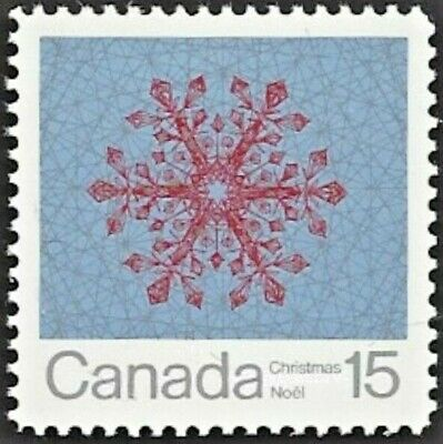 Canada   # 557   CHRISTMAS SNOWFLAKES   Brand New 1971 Pristine Issue