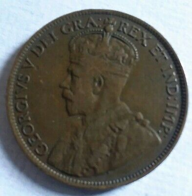 Canada Large One Cent 1916 Lightly Circulated