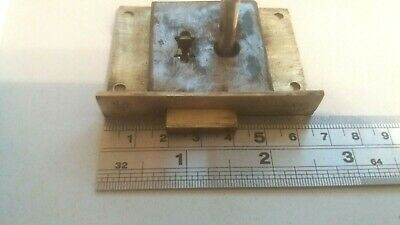 Antique Brass-Steel Cupboard-Cabinet drawer- lock  65mm -1 Key  (977)