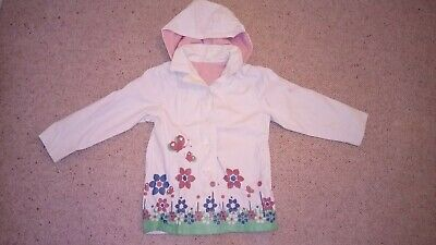 Girls Mothercare Fleece Lined Raincoat Aged 7-8 Years